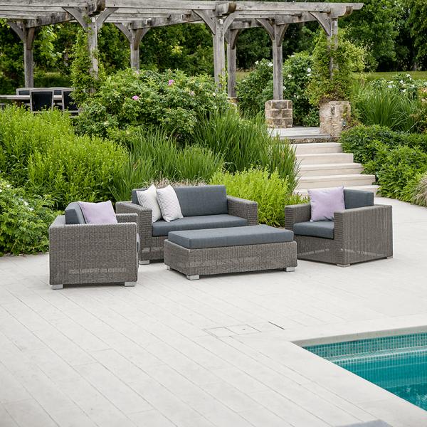 sofa set with ottoman
